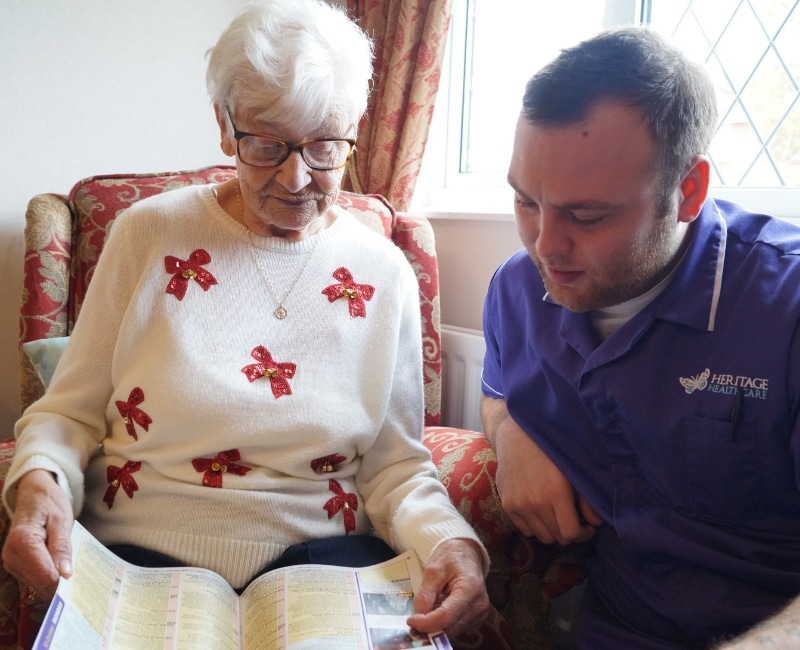 What becoming a Heritage Healthcare carer entails