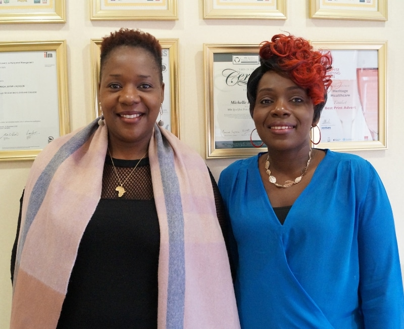 Heritage Healthcare St Albans Enika Chasafara and Accedes Mutupe