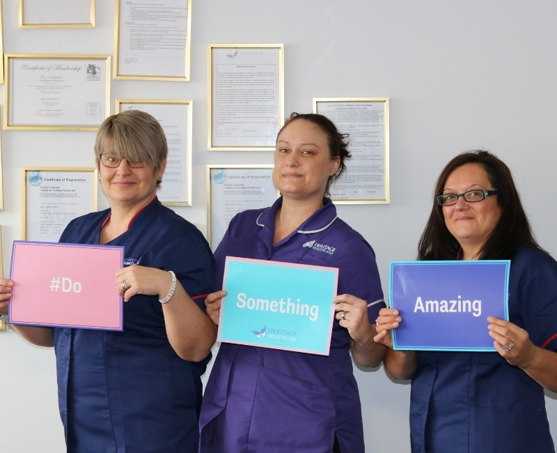 #DoSomethingAmazing and become a carer with Heritage Healthcare